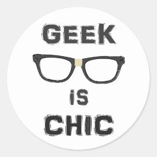 Geek is Chic Classic Round Sticker