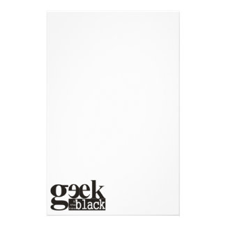 Geek is the new Black Customized Stationery