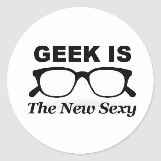 geek is the new sexy classic round sticker