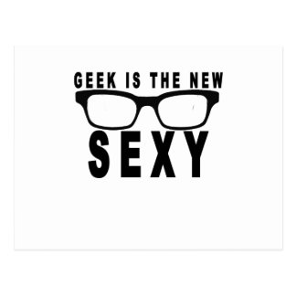 Geek is the new sexy t-shirts.png postcard