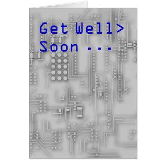 Geek IT Get well soon card