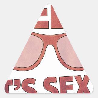 geek it's sexy triangle sticker