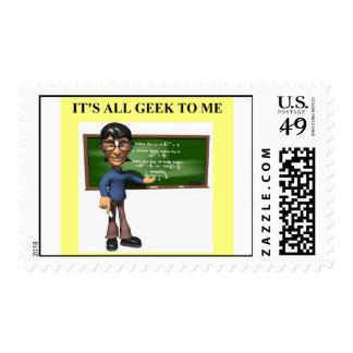 geek joke postage stamps
