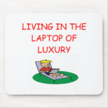 geek laptop joke mousepad