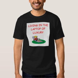 geek laptop joke t-shirt