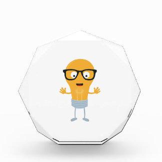 Geek light bulb with glasses Z76fc Acrylic Award