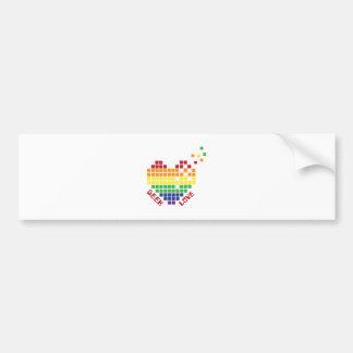 Geek Love Car Bumper Sticker