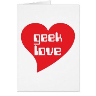 Geek Love by Genepool Design Greeting Card