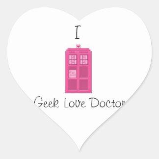 Geek Love Doctor- Proud supporter of GWC Heart Sticker