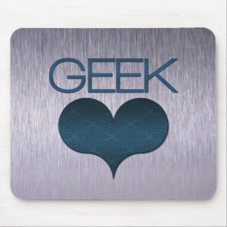 Geek Love (Heart) Mousepad, Dark Blue Mouse Pad