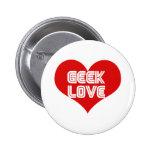 Geek Love Valentines Day Heart 2 Inch Round Button