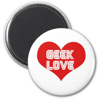Geek Love Valentines Day Heart Magnets