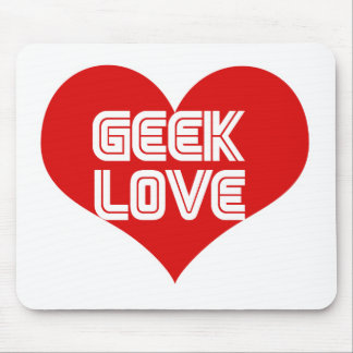 Geek Love Valentines Day Heart Mouse Pads