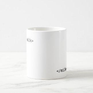 geek milk classic white coffee mug