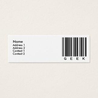 Geek Mini Business Card