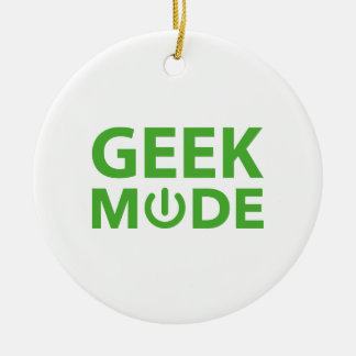 Geek Mode Ceramic Ornament