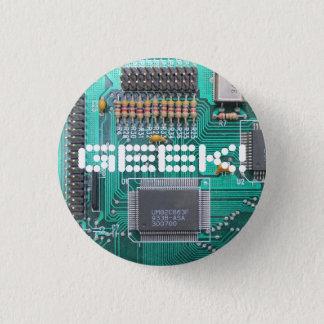 GEEK! motherboard, circuit board photo Pinback Button