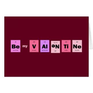 Geek Nerd Science Be My Valentine Greeting Card