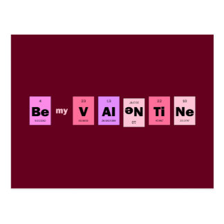 Geek Nerd Science Be My Valentine Postcard