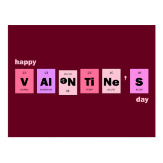 Geek Nerd Science Happy Valentine's Day Postcard