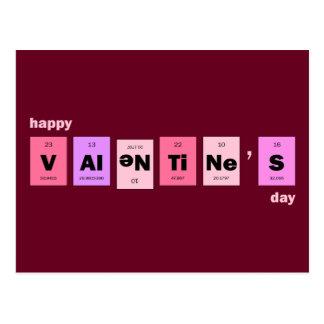 Geek Nerd Science Happy Valentine's Day Postcard