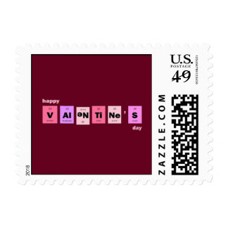 Geek Nerd Science Happy Valentine's Day Stamp
