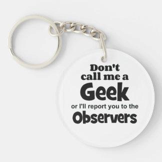 Geek Observers bf Keychain