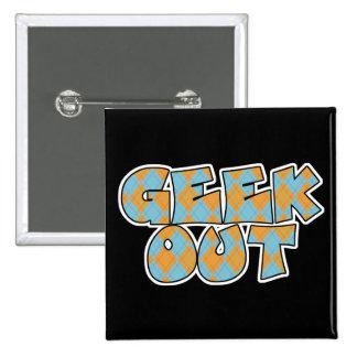 Geek Out Argyle Text Design Buttons
