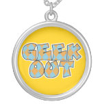 Geek Out Argyle Text Design Necklace