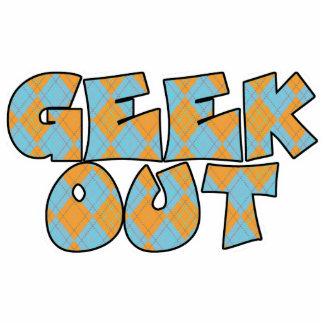 Geek Out Argyle Text Design Photo Cut Out