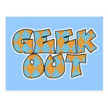 Geek Out Argyle Text Design Postcard