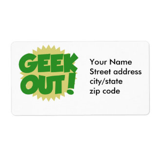 Geek Out Label