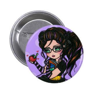 Geek Out Nerd Smartie Pants Bookworm Comic Girl 2 Inch Round Button