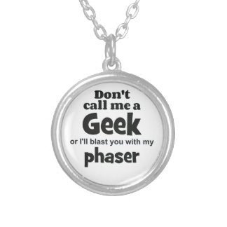 Geek phaser bf silver plated necklace