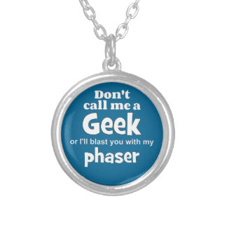 Geek phaser wf silver plated necklace