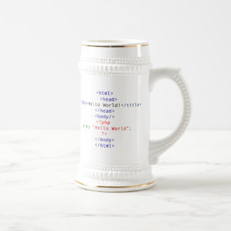 Geek php Greeting Beer Stein