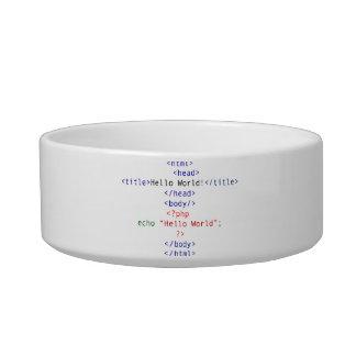 Geek php Greeting Bowl