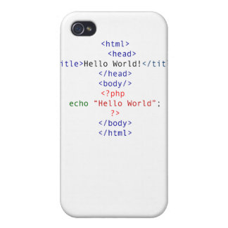 Geek php Greeting iPhone 4 Cases