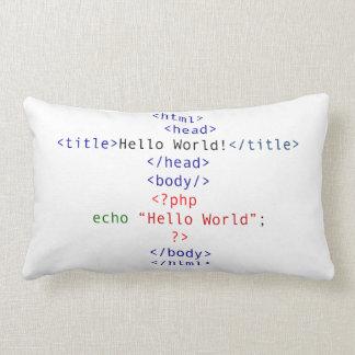 Geek php Greeting Lumbar Pillow