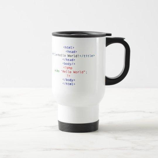 Geek php Greeting Travel Mug