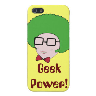 Geek Power with a Green Afro Wig & a Bow Tie Case For iPhone SE/5/5s