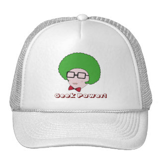 Geek Power with a Green Afro Wig & a Bow Tie Trucker Hat