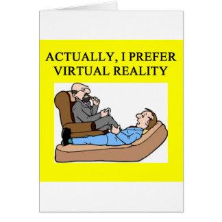 geek psychology greeting card
