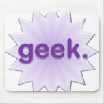 Geek Purple Mouse Pad