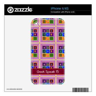 GEEK : Quiz Games for Kids iPhone 4S Decal
