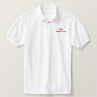 Geek Revolutionary Embroidered Polo Shirt