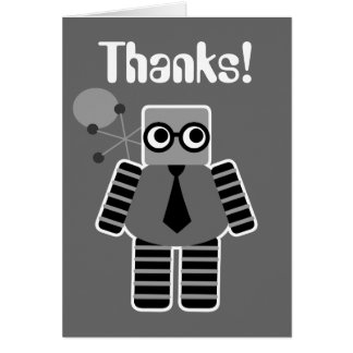 Geek Robot Thank You Cards Note Card