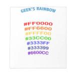 Geek' s Rainbow Blocs De Notas