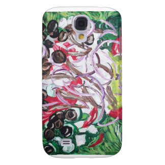 Geek Salad from original painting art Samsung Galaxy S4 Covers