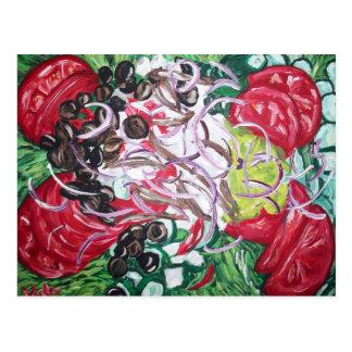 Geek Salad from original painting art Postcard